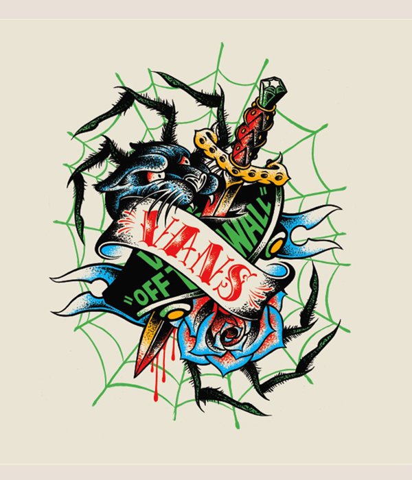 Vans wacky tattoo conglomerate tee